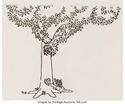 the giving tree shel silverstein production cel of lot
