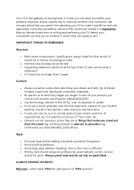 employability skills cv writing experienced teacher