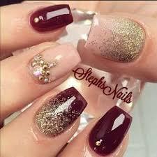 uas de gelish decoradas uñas decoradas en color vino gelish buscar con google uñas