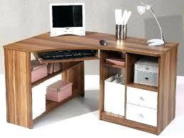 bureau ordinateur bois meuble d angle ordinateur bureau informatique en bois avec rideau et