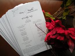 sle of wedding ceremony program custom wedding programs by taylormadedesignco on etsy 0 50