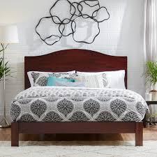 luxury platform cal king beds solid wood material memory foam
