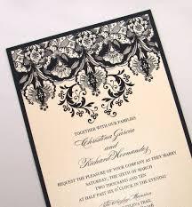 sle wedding invitation ivory black wedding invitations