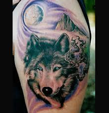 wolf wolf arm on tattoochief com