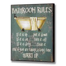 Funny Bathroom Pics Funny Bathroom Signs Bathroom Rules Funny Plaque Wall Sign