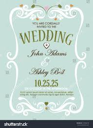 wedding cards design wedding invitation card design vector border stock vector