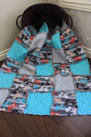 no fear motocross gear baby rag quilt dirt bike baby quilt motocross aqua and grey