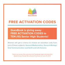 quexbook to all senior high students quexbook has a facebook