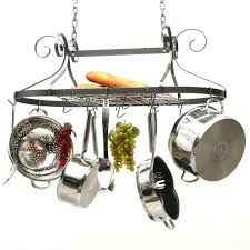kitchen pot racks with lights 6 double level pot rack hooks hayneedle