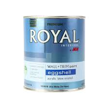 royal interior acrylic latex paint ultra white eggshell 1qt ace