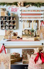 this wrapping paper station will make the north pole jealous