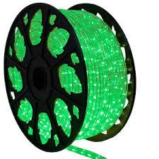 150 ft and green bi color led rope light kit 120v