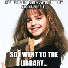 Hermione Memes - hermione at the library