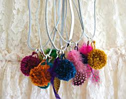 diy pom pom necklaces for tots and kids bebe and bear
