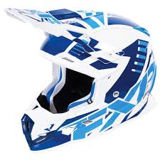 blue motocross gear fxr racing boost revo mx mens off road dirt bike motocross helmets