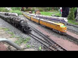 large private model railroad rr lgb g scale gauge train layout of