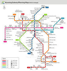 A Train Subway Map by Kunming Subway Map Planning Metro Lines Sketch Map