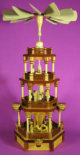 german candle pyramids and candle carousel history christkindl markt