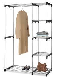 double rod freestanding closet silver black walmart com