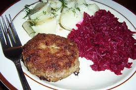recette cuisine polonaise kotlety mielone z kartoflami i buraczki boulette de veau et
