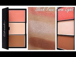 makeup face form2 3 sleek face form light palette review
