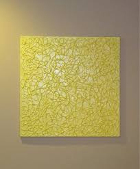 blukatkraft diy simple textured wall art with string
