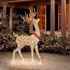 outdoor lighted reindeer buck deer yard decor
