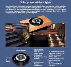 Solar Powered Deck Lights Solar Powered Deck Lights Wired4signs