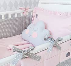 Baby Cot Bedding Sets New Exclusive Luxury Baby Bedding Set Powder Pink Grey