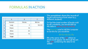 Formulas For Spreadsheets Lesson 3 7 And 3 8 Variables And Formulas In Spreadsheets Ppt