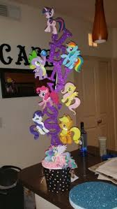 my pony centerpieces my pony centerpiece for my lovely niece my creations