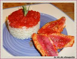 cuisiner le rouget filets de rougets au four tomates vin blanc et riz quand