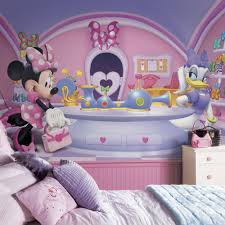 minnie mouse decor totally kids totally bedrooms kids bedroom minnie fashionista mural 6 x 10 5 ultra strippable