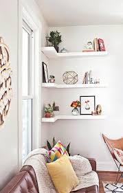 Bookshelves Small Spaces by Corner Shelves A Smart Small Space Solution All Over The House