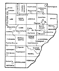 County Map Illinois by Fulton County Illinois Maps And Gazetteers