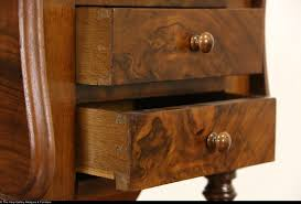 burl 1890 u0027s antique end table or nightstand sewing drawers