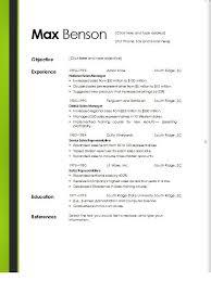 free online resume templates word sample resume templates free