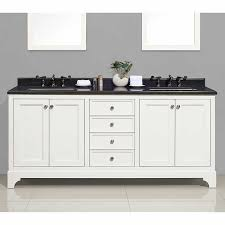 Costco Vanities For Bathrooms Cypress Hills U2013 73 In Pure White Cressida Bathroom Vanity