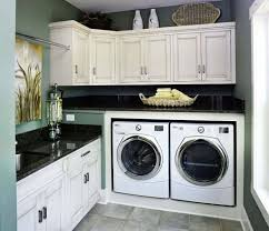 home laundry room cabinets laundry room with black countertops and white cabinets choosing