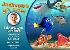 finding dory birthday invitations finding dory birthdays and