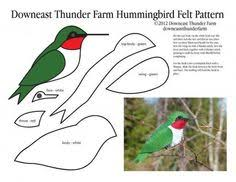 free felt patterns a collection of felt bird ornaments these are