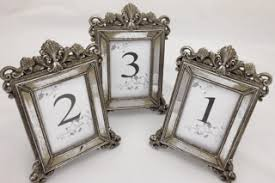 silver frames for wedding table numbers wedding table number frames best table 2018