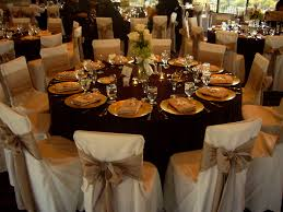 table chair covers impressive beautiful wedding table setting chair covers bows my