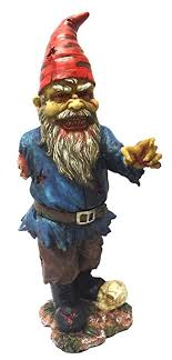 11 75 inch scary garden gnome with one arm and
