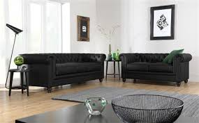 Black Leather Chesterfield Sofa Hton Leather Chesterfield Sofa Suite 3 2 Seater Black Only