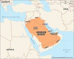 africa map deserts arabian desert facts location plants animals map