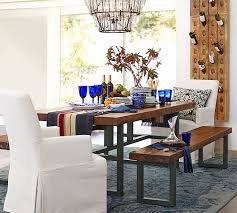 Kitchen Table Setting by Griffin Reclaimed Fixed Table U0026 Bench 3 Piece Dining Set Pottery