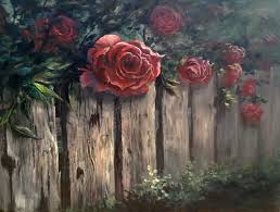 paint with kevin roses over the fence youtube