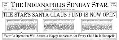hi mailbag christmas a century ago historic indianapolis all