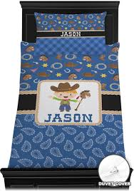 Western Duvet Covers Blue Western Duvet Cover Set Personalized Baby N Toddler
